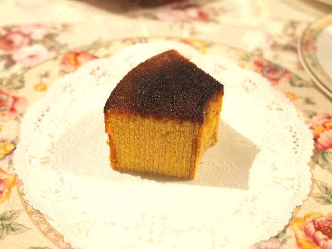 ovale Bruleebaumkuchen piece