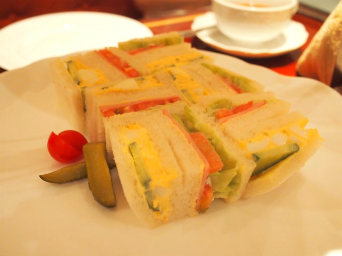 harajuku sakanshu afternoontea sandwich