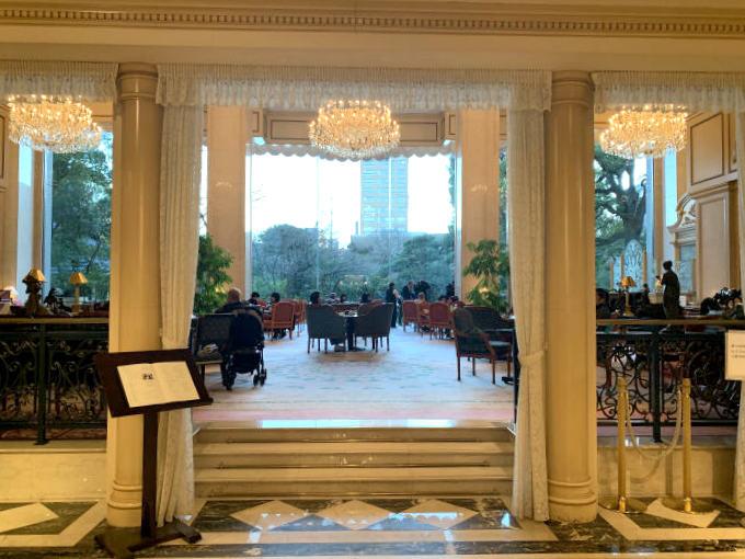 リーガロイヤルホテル東京「ガーデンラウンジ」のエントランス