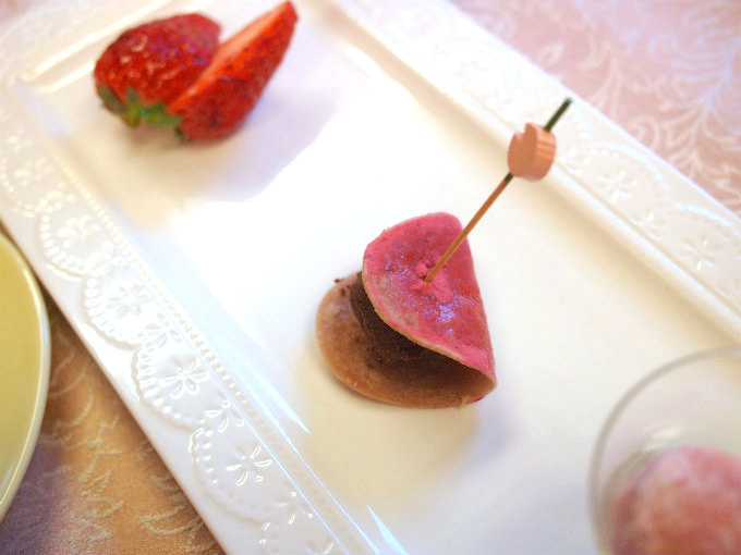 桜餅風ケーキ