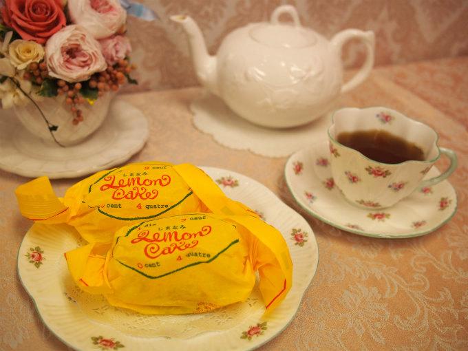 しまなみレモンケーキと紅茶