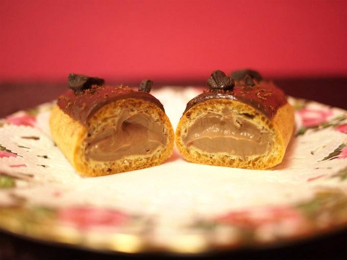 レクレール・ ドゥ・ジェニの「ショコラ グランクリュ」の断面図