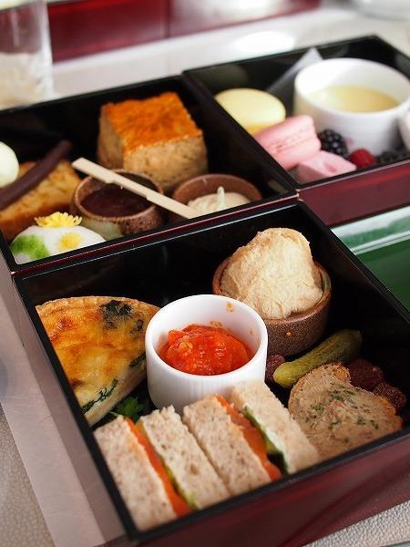 パレスホテル東京「ザ・パレス ラウンジ」1人分のアフタヌーンティーセット