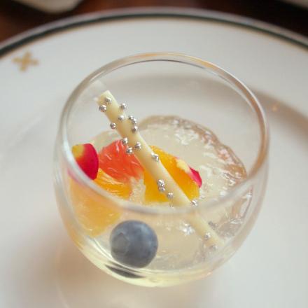 ハニーレモンジュレ。 さっぱりして美味しいデザートでした!