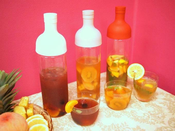 夏の旬の果物を使った贅沢フルーツアイスティーのレシピ