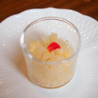 ピーチのグラニデ。桃のシャーベット