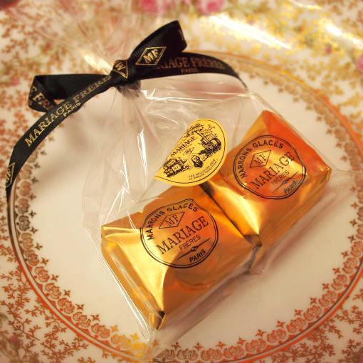 マロングラッセは1粒が約1000円と高額だけど、とても人気があります。
