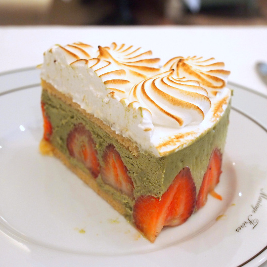 いちごと抹茶のケーキ@銀座本店