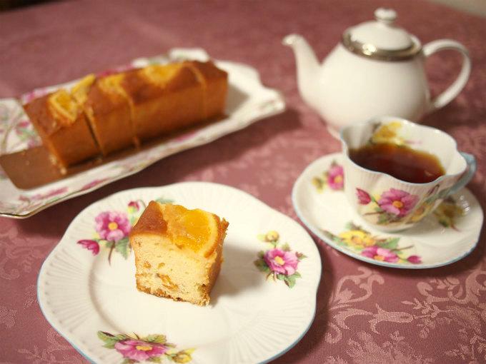 帝国ホテルキッチンのオレンジケーキと紅茶