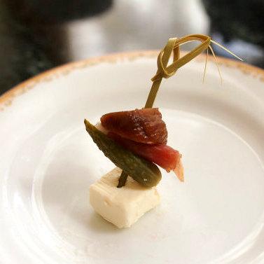 イチジクとクリームチーズのピンチョス 大好きな組み合わせ♪間違いない美味しさです。
