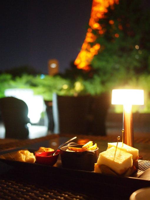 東京プリンスホテル「タワービューテラス」ハロウィンハイティーのメインプレート