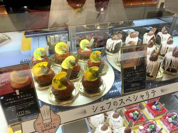 アンテノール東京大丸店のショーケース
