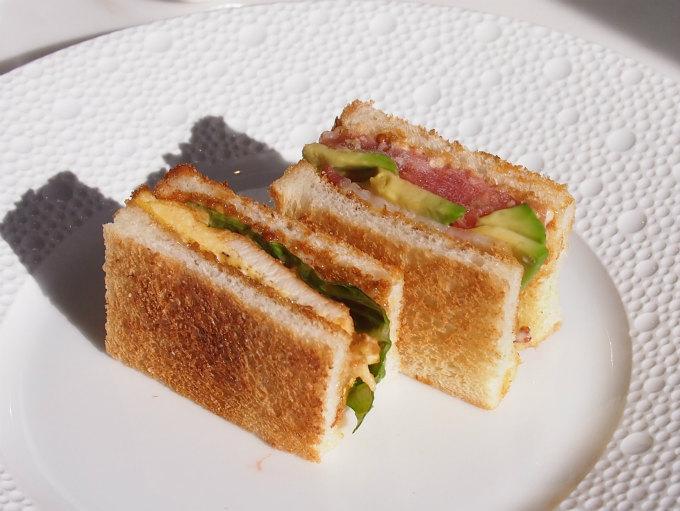 サンドウィッチはトーストサンドでパンがとってもサクサクしていました!