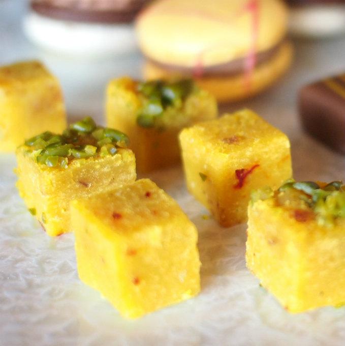 インディアンデザートひよこ豆を使ったインドでよく食べられているスイーツだそうです。