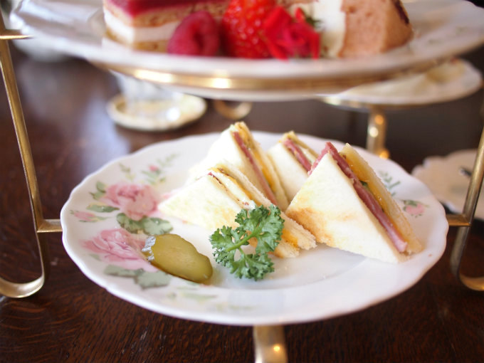 enokitei rose afternoontea sandwich