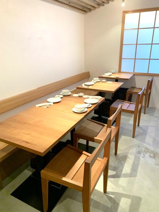 まやんちのお席。この他テーブル席もありました。
