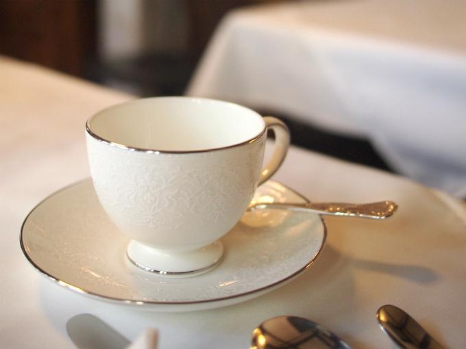 ウェッジウッドのイングリッシュレースのカップ&ソーサー