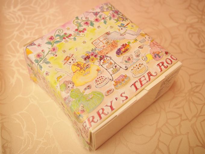 ベリーズティールームは包装紙も可愛い♥