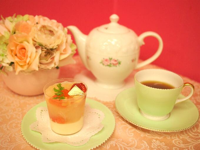 レザネフォールの「パンプルムースリチ」と紅茶