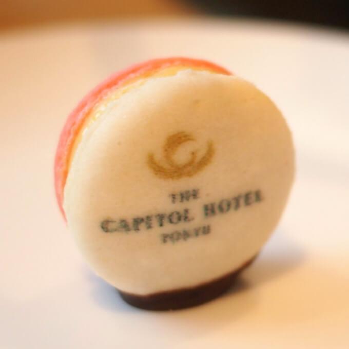 マカロンバニーユホテルのロゴ入りでした。