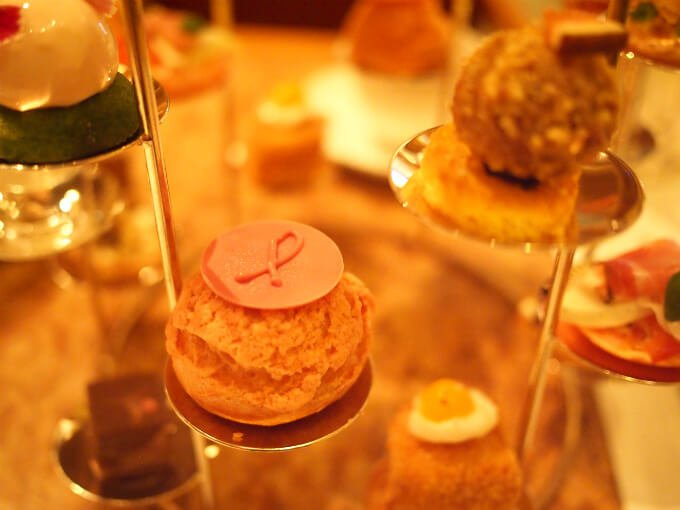 peninsula pink afternoontea sweets