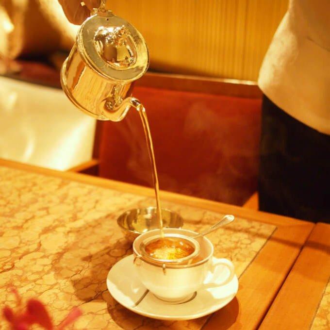 アツアツの紅茶なので湯気がしっかり写真に撮れました!