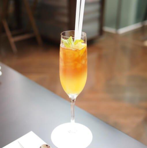 ウェルカムドリンク今回はウェルカムドリンク付きのプラン。オレンジジュースのセパレートティーでした。