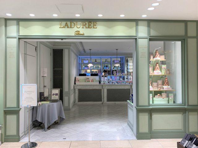 ラデュレ サロン・ド・テ 銀座店のエントランス