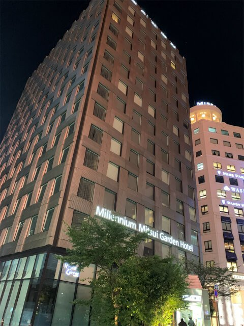 ミレアム三井ガーデンホテルの外観