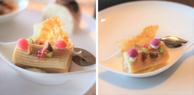 江戸味噌フォアグラブッシュはフォアグラから生ハムに変更