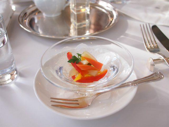 フィオーレの森「星のサロン」のアフタヌーンティーの前菜