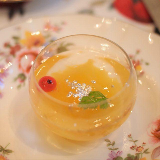 オレンジとシャンパンのジュレ