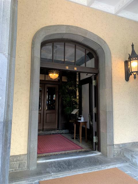 ラ・メゾン・キオイの入り口には旧館の文字が、赤坂プリンスの旧館だった名残ですね!
