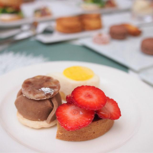 苺のタルト、レモンケーキもキームンと相性良し!モンブランはアッサムと合わせると美味しかった!