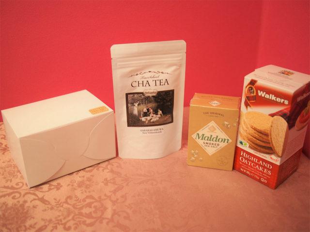 私はTea Time setと紅茶(サバラガムワ)とお塩とオートケーキを購入しました。