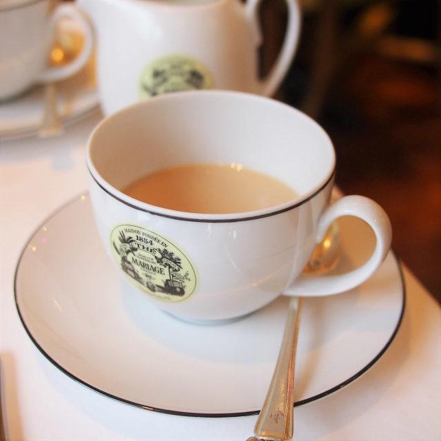 ミルクティーに合う紅茶と紹介していただいたので、もちろんミルクティーにしていただきました!