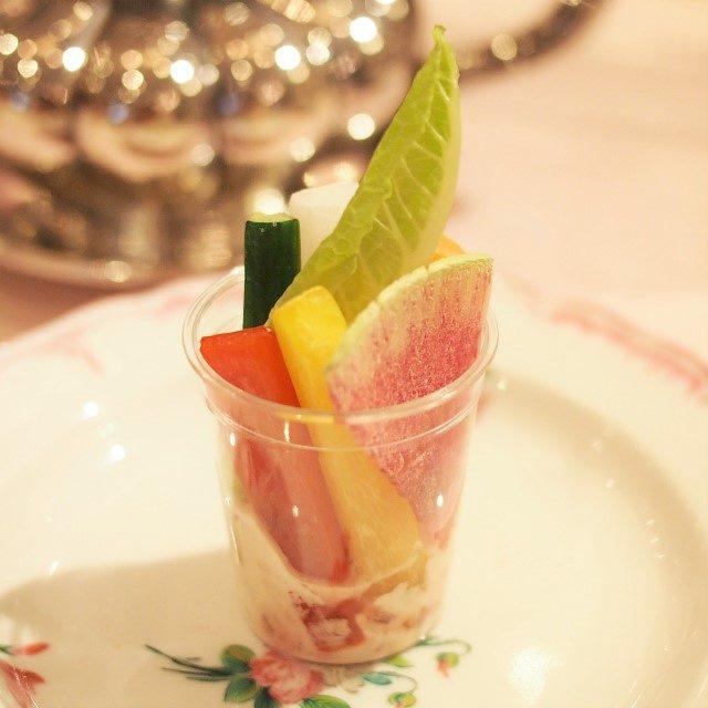 ベジタブルスティック&桜マヨネーズ桜マヨネーズがめちゃくちゃ美味しかったです