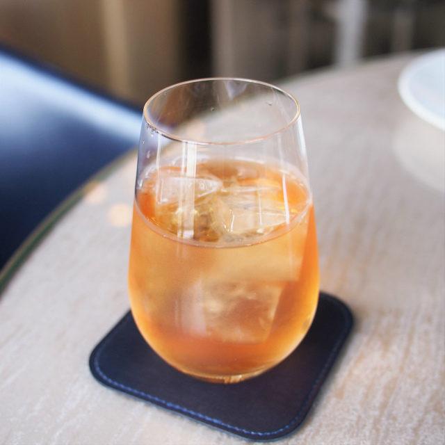 ダージリン アルマーニ リストランテではすべての紅茶をアイスにしてもらえます。