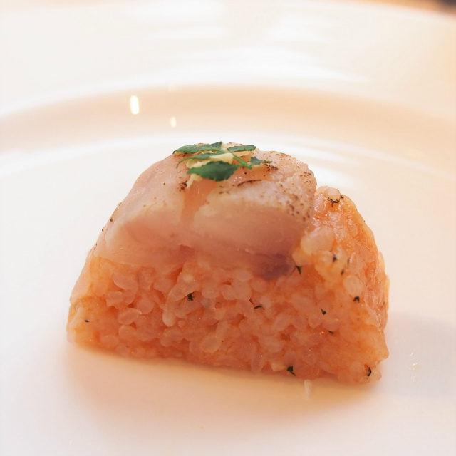 炙り伊佐木 ハーブの押し寿司