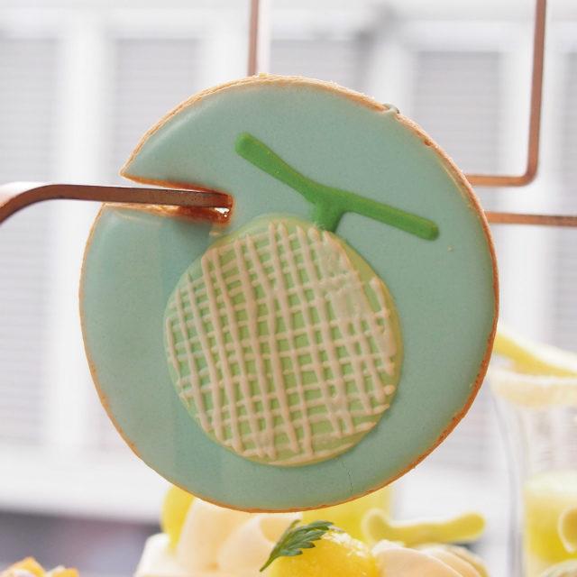 メロンのアイシングクッキー