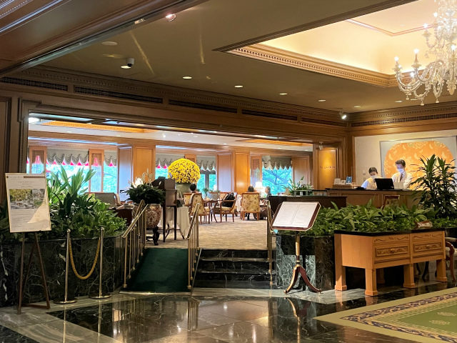 ホテル椿山荘東京 ロビーラウンジ「ル・ジャルダン」のエントランス