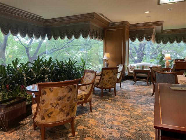 ホテル椿山荘東京「ル・ジャルダン」の内装