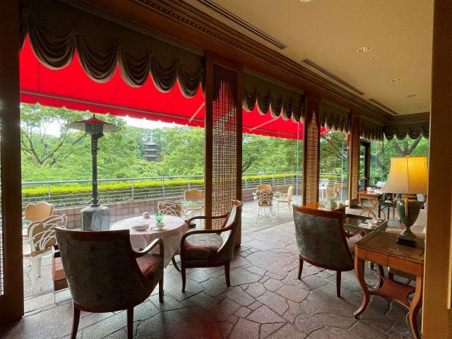ホテル椿山荘東京 ロビーラウンジ「ル・ジャルダン」のテラス席