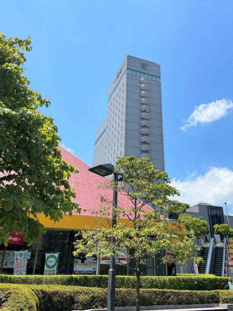 ホテルイースト21東京の外観。ホテルイースト21東京は複合商業施設「東京イースト21」内にあるホテルです。