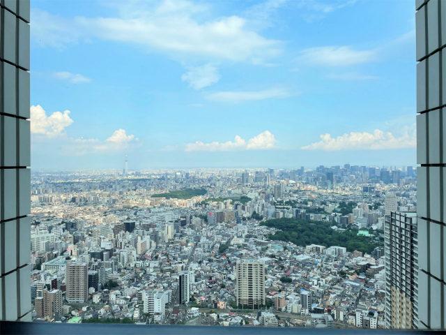 58Fだから、窓からの眺めが最高!スカイツリーや東京ドームも見えました!!!