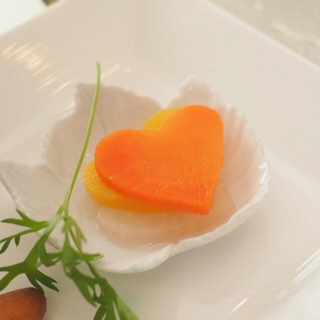 柚子とコリアンダー風味のハートのピクルス