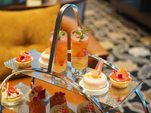 hyatt yokohama peach afternoontea sweets01
