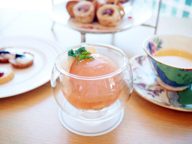 iconic shiodome peach afternoontea dessert01