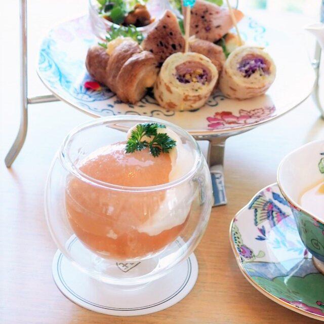 iconic shiodome peach afternoontea dessert04