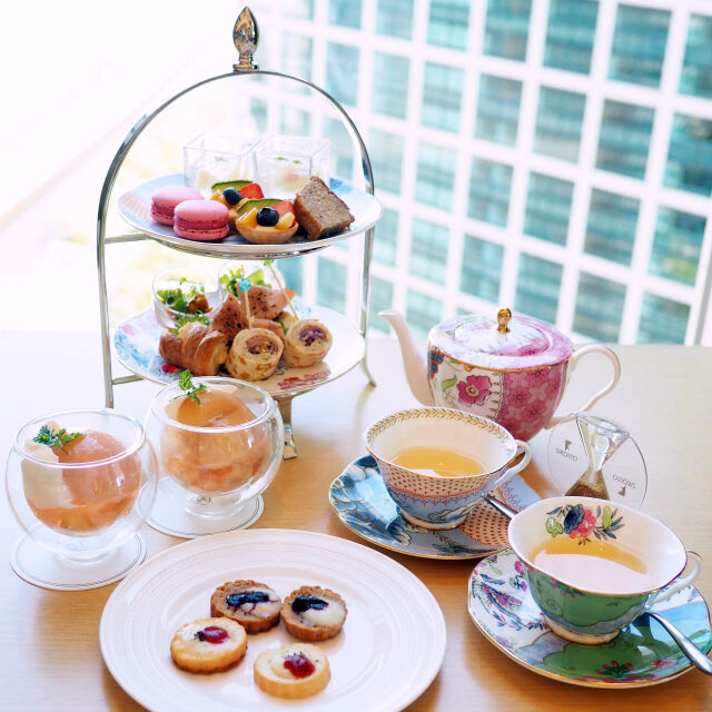 iconic shiodome peach afternoontea set02